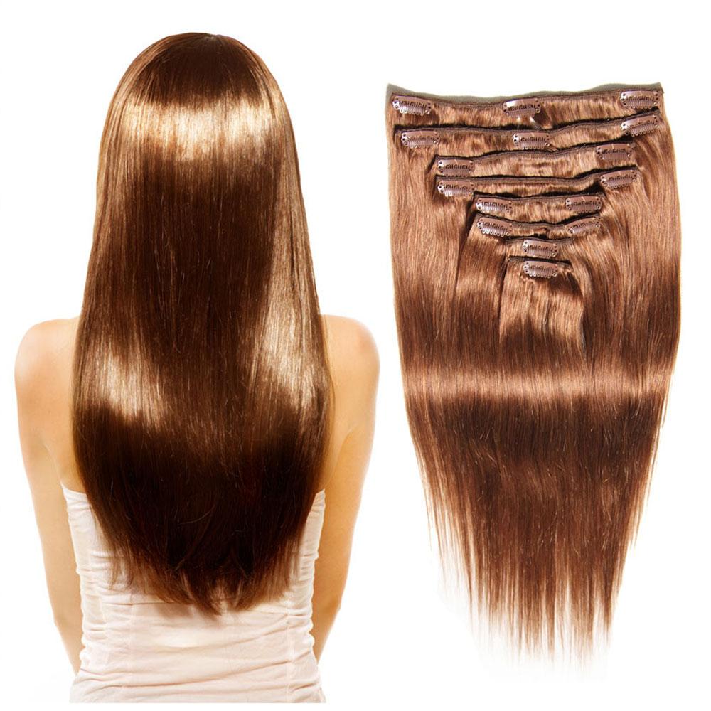 Nadula Remy Clip In Human Brazilian 18 24 Inch Cheap Hair Extensions