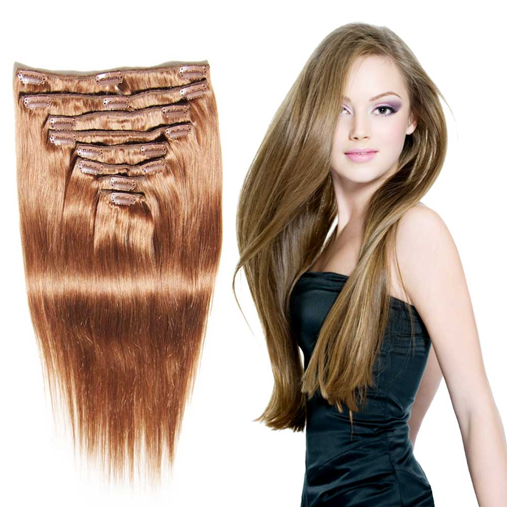 Nadula Full Head Virgin Brazilian Best Clip In Hair Extensions For