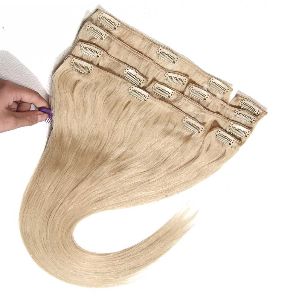 Nadula Best Real Remy Brazilian Straight Clip In Human Hair