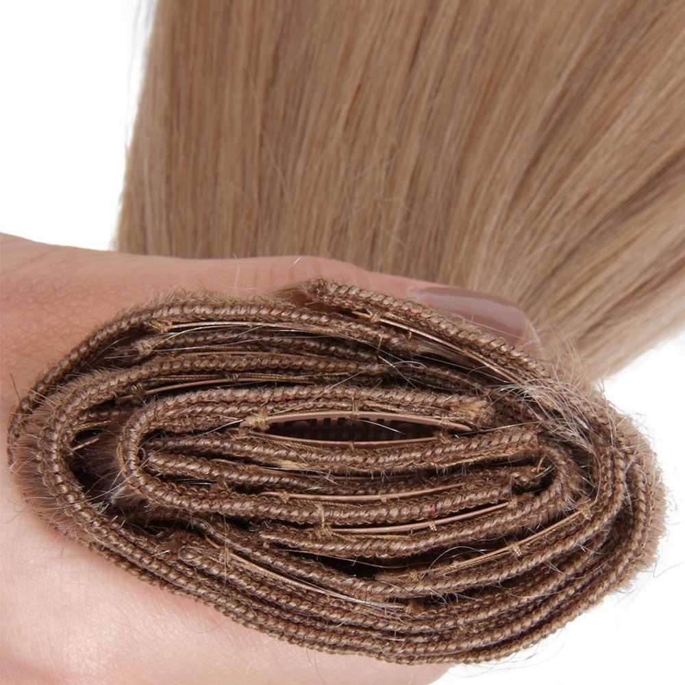 Nadula Clip In Real Human Hair Extensions Virgin Indian Natural