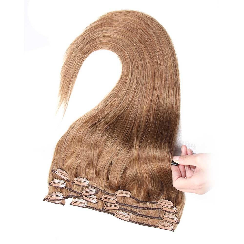 Nadula Full Head Virgin Brazilian Best Clip In Hair Extensions For
