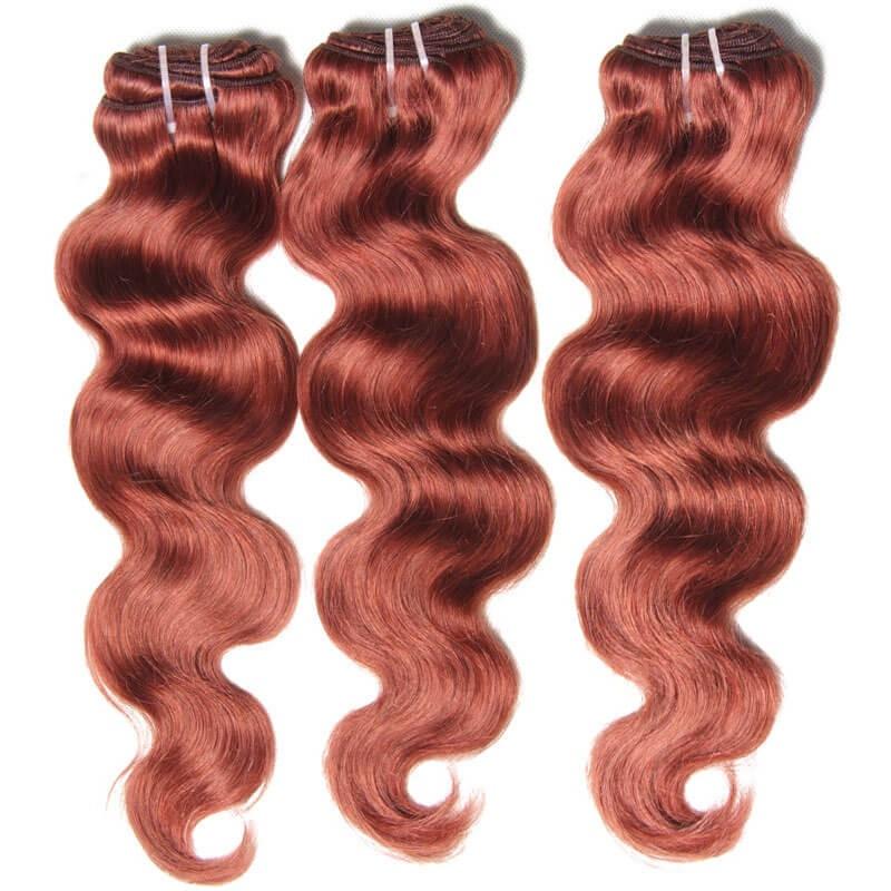 Nadula 3 Bundles Brazilian Hair Weave 33 Copper Red Body Wave Human