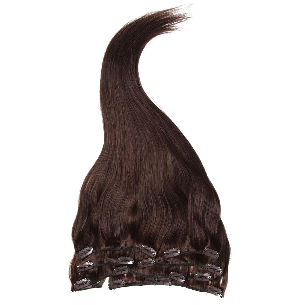 Nadula 100 Virgin Clip In Peruvian Human Hair Extensions Full Head
