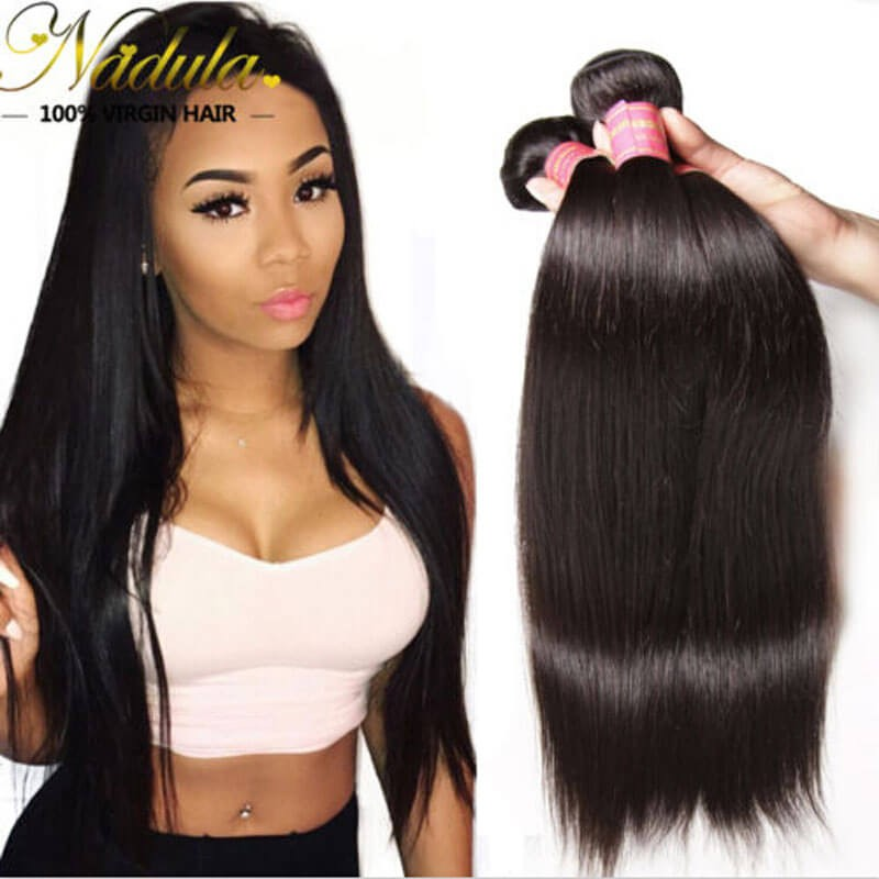 Nadula Cheap Virgin 3 Bundles Of Peruvian Straight Hair Bundle Deals
