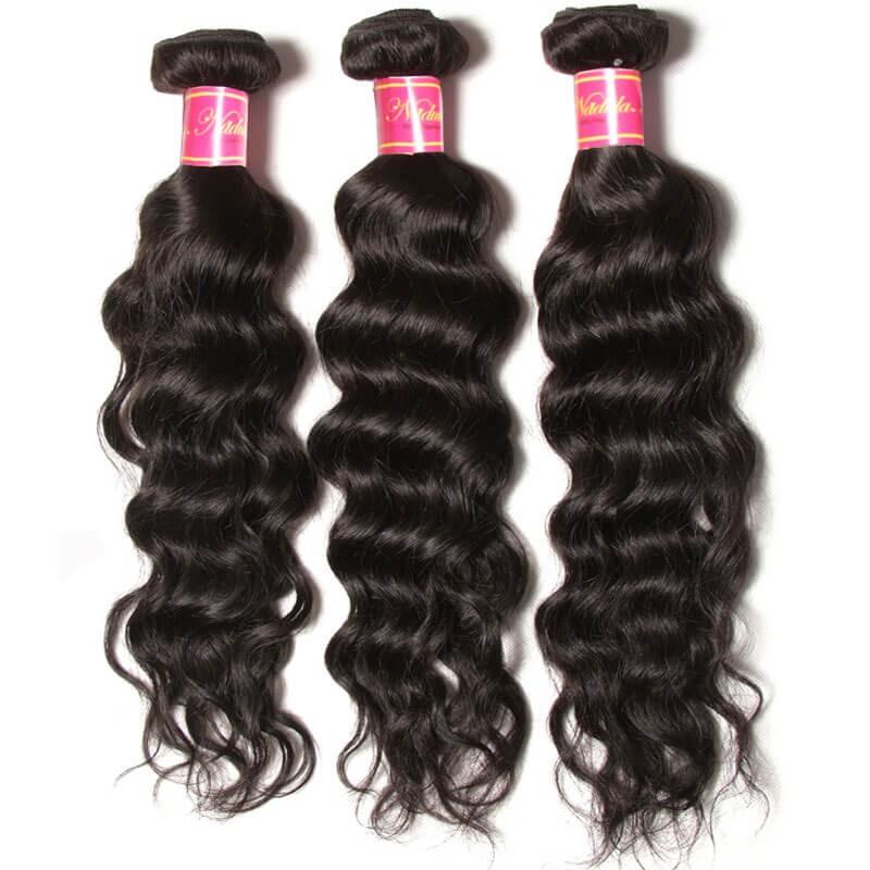 Nadula Best Indian Virgin Hair 3 Bundles Natural Wave Wavy Indian