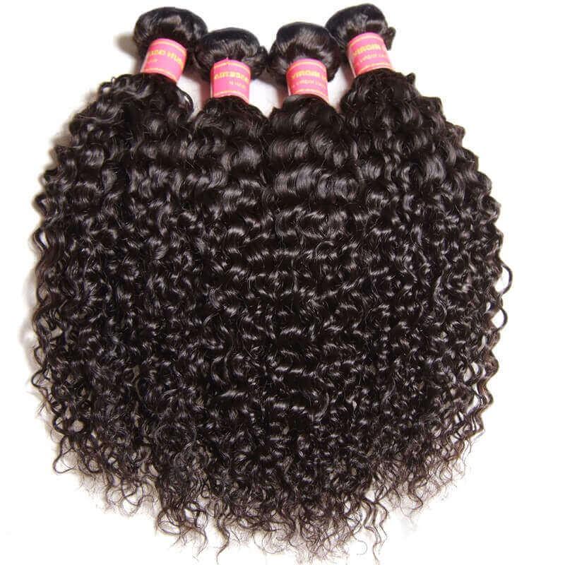Nadula Best Virgin Brazilian Kinky Curly Hair Weave 3 Bundles Thick