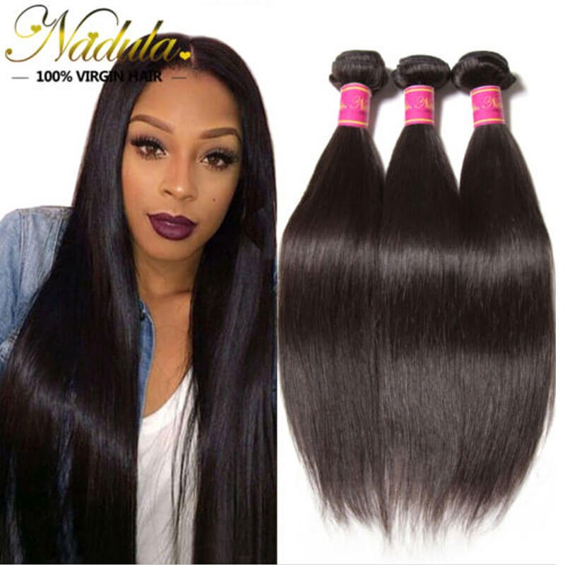 Nadula Cheap Best Virgin Brazilian Hair Weave 3 Bundles Straight