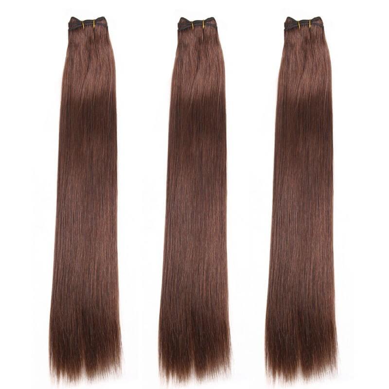 Nadula Cheap Brazilian Hair Weave Bundles 3 Pcs 4 Chocolate Brown