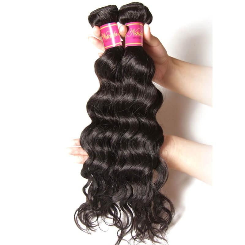 Nadula Cheap Brazilian Virgin Hair Weave Natural Wave 4 Bundles