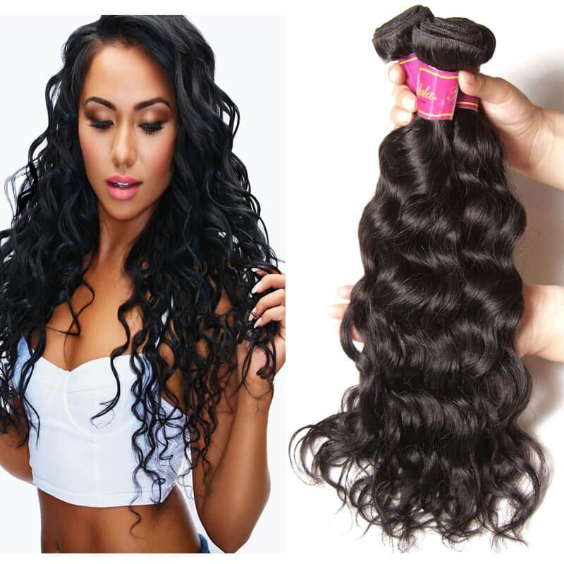 Nadula Cheap Indian Virgin Hair 4 Bundles Natural Wave Virgin Indian
