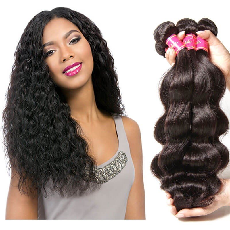 Nadula Cheap Virgin Peruvian Body Wave Hair Weave 4 Bundles Wavy