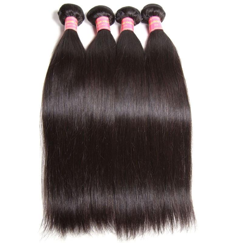Nadula Soft Virgin Brazilian Straight Hair Weave 4 Bundles Cheap