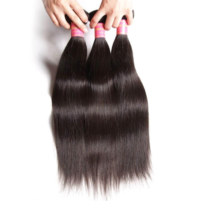 Nadula Wholesale Best Indian Straight Hair Weave 3 Bundles Real Long
