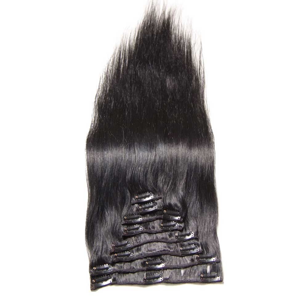 Nadula 100 Real Cheap Human Hair Clip In Indian Straight Extensions