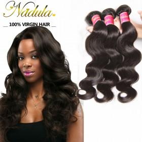 Nadula Cheap Virgin Malaysian Body Wave 3 Bundles/Lot Malaysian Virgin Remy Human Hair Weave