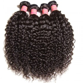 Nadula 4 Bundles Cheap Peruvian Curly Virgin Hair Weave Bundles Thick Virgin Peruvian Human Hair Extensions