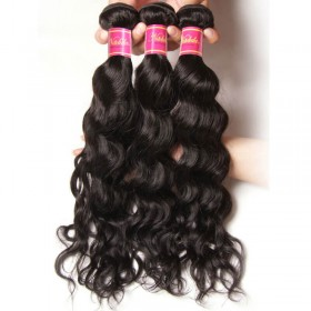 Nadula Best Indian Virgin Hair 3 Bundles Natural Wave Wavy Indian Virgin Human Hair Weave