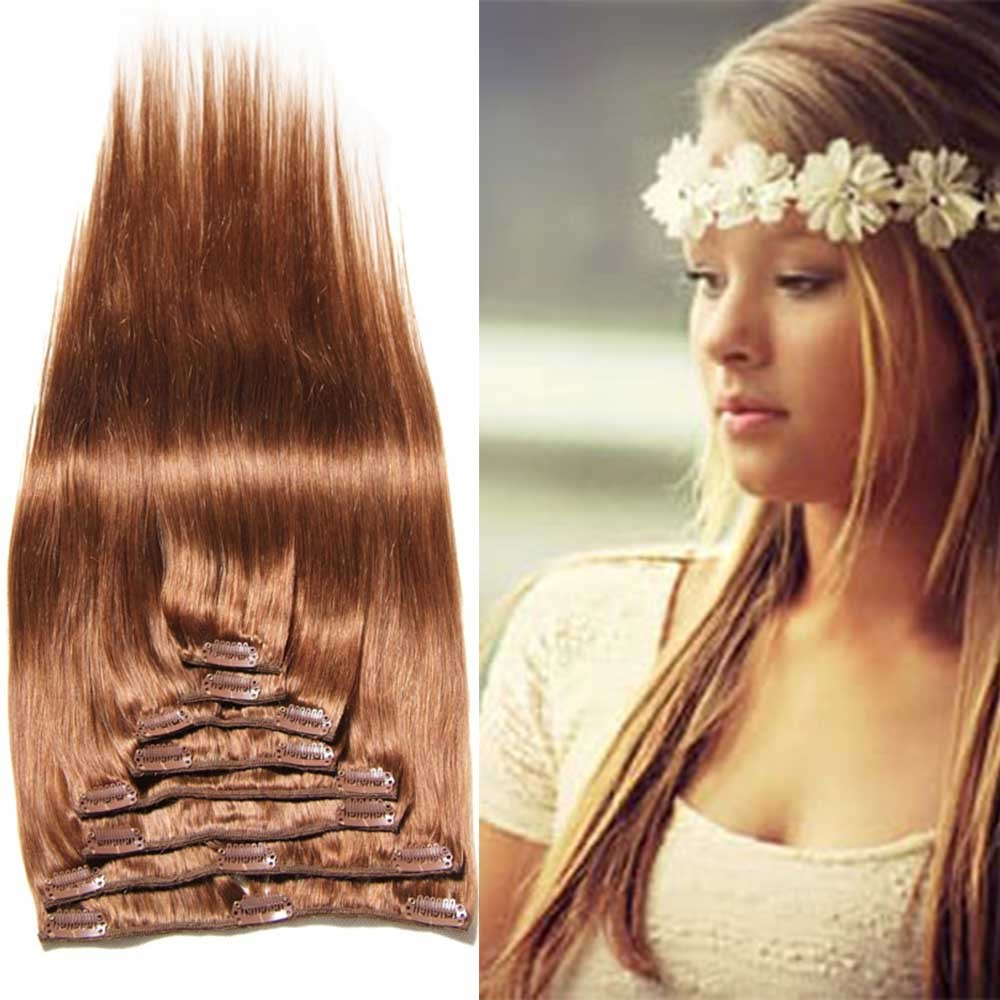 colored hair extensions clip in