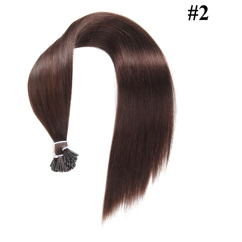 Nadula Cheap Malaysian Remy Human Hair Extensions Straight Pre Bonded Keratin Fusion I Tip Hair Extensions