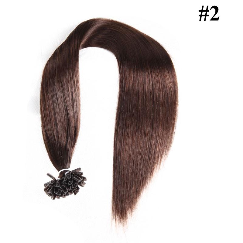 Nadula Cheap Pre Bonded U Tip Keratin Fusion Hair Extensions Straight Malaysian Remy Human Hair Extensions