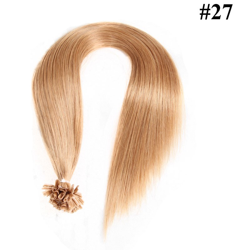 Nadula Peruvian Remy Human Hair Nail Tip Keratin Fusion Hair Extensions 18in 20in 22in 24in Straight