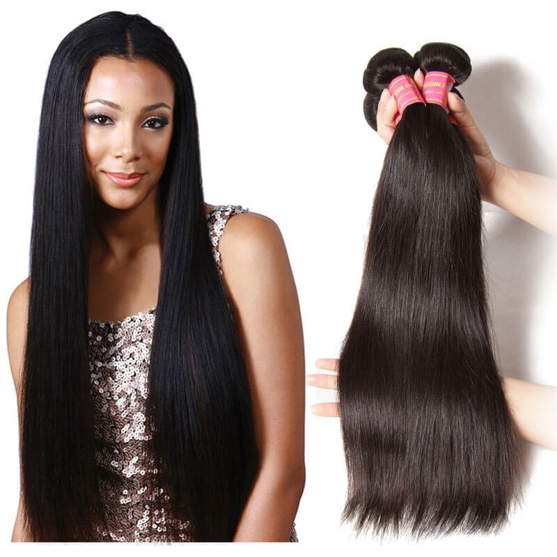 Virgin 100 Human Straight Hair Weave Popular Kinky Straight Hair