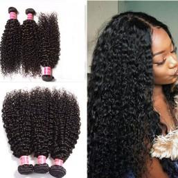 3 bundles curly hair