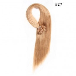 Nadula 18in 20in 22in 24in Pre Bonded Nail U Tip Keratin Fusion Hair Extensions Straight