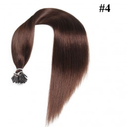Nadula Cheap Indian Straight Remy Human Hair Pre Bonded Keratin Fusion I Tip Hair Extensions