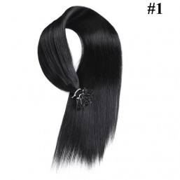 Nadula Cheap Pre Bonded I Tip Keratin Fusion Hair Extensions Straight Brazilian Remy Human Hair Extensions