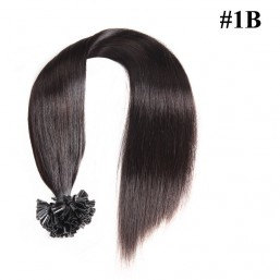 Nadula Cheap Pre Bonded U Tip Keratin Fusion Hair Extensions Peruvian Straight Remy Human Hair Extensions