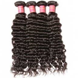 4 bundles virgin brazilian deep wave