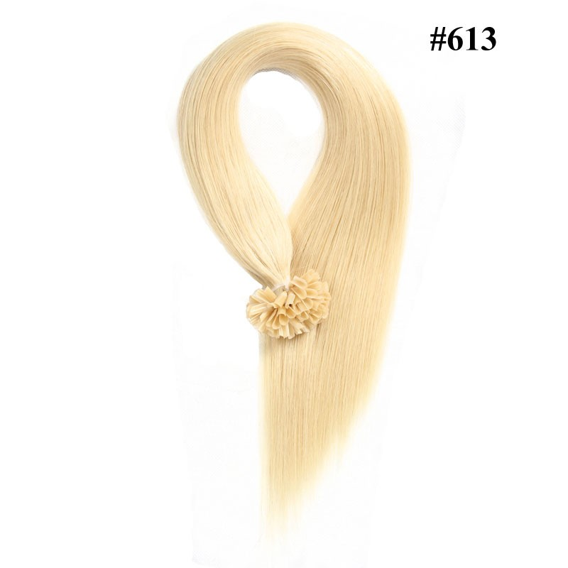 Nadula Affordable Nail U Tip Keratin Fusion Hair Extensions Straight Pre Bonded Indian Remy Hair