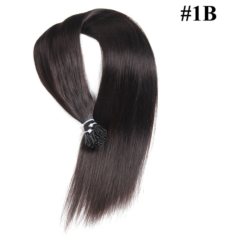 Nadula Affordable Pre Bonded I Tip Keratin Fusion Hair Extensions Straight Peruvian Remy Human Hair Extensions