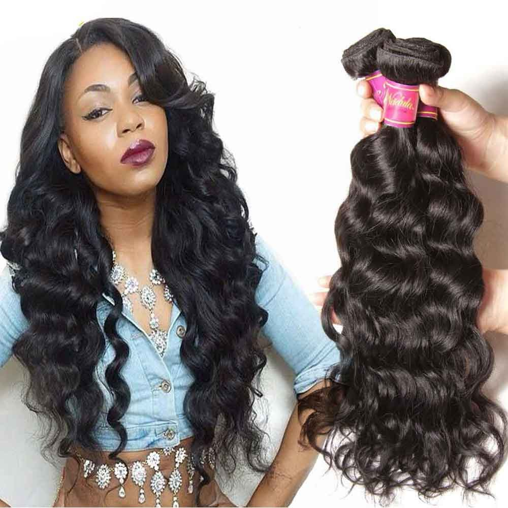 peruvian natural wave hair 3 bundles