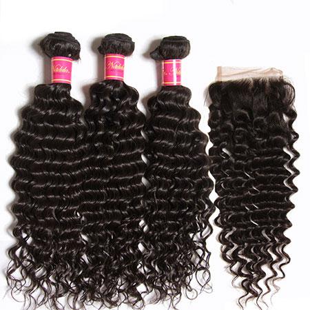 brazilian hair bundles with closure