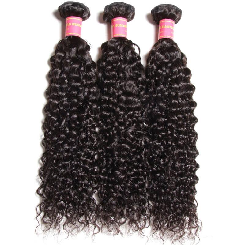 virgin curly hair bundles with closure