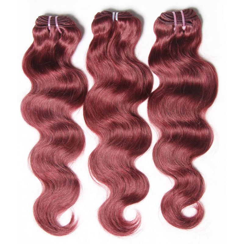 Nadula 3 Bundles Brazilian Hair Weave Body Wave 99j Auburn Soft