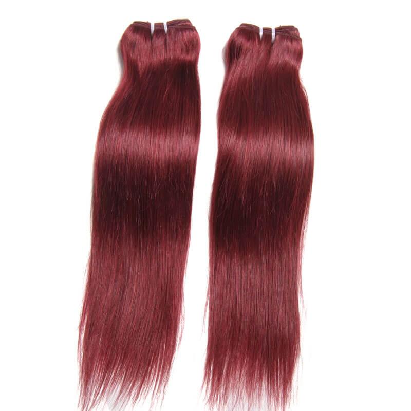 Nadula 4 Bundles Cheap Brazilian Straight Human Hair Weave 99j