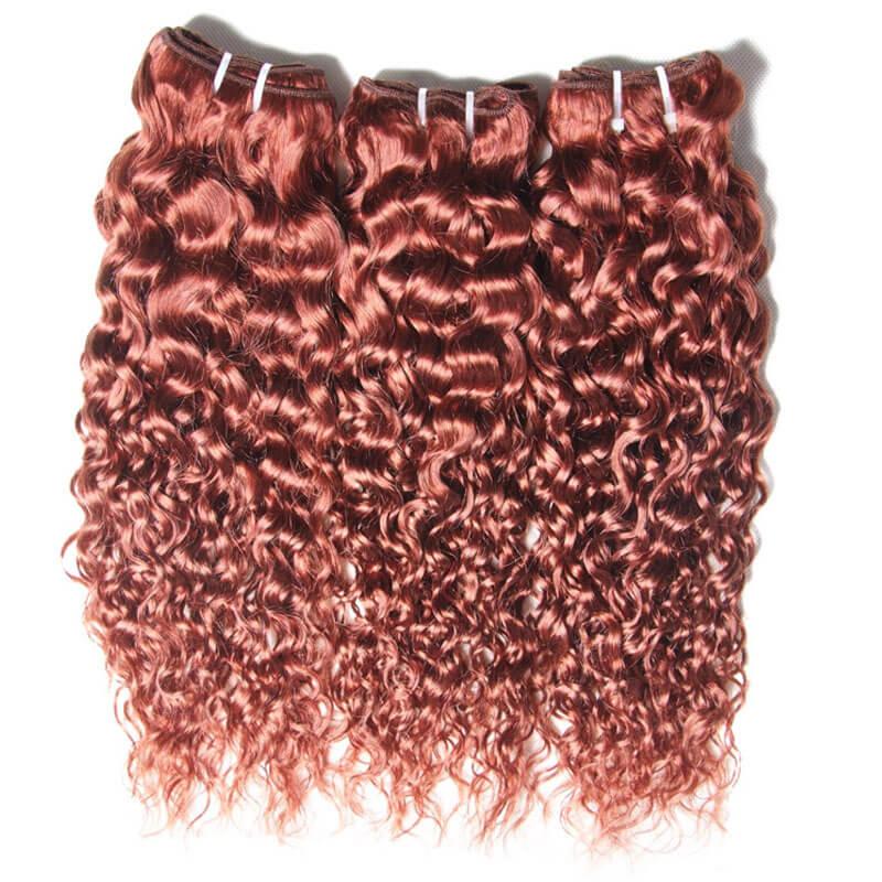 Nadula Brazilian Curly Hair Weave 3 Bundles 33 Copper Red Human