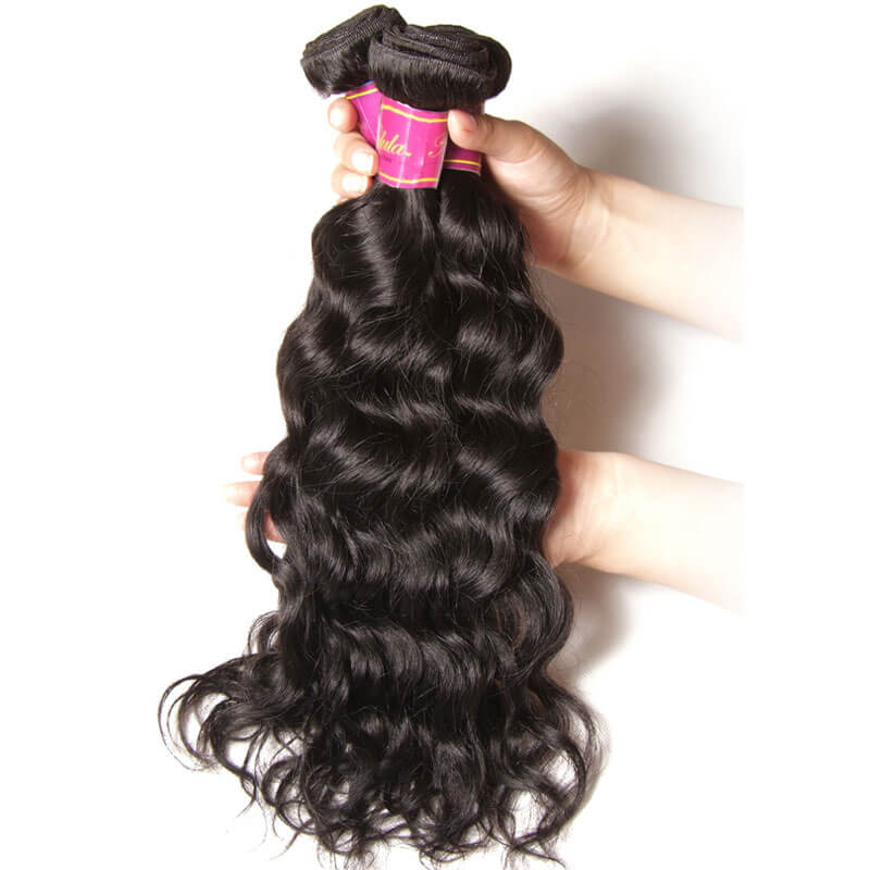 virgin remy brazilian natural wave hair