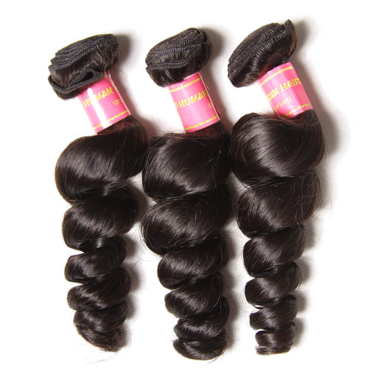 3 bundles brazilian loose wave hair weave