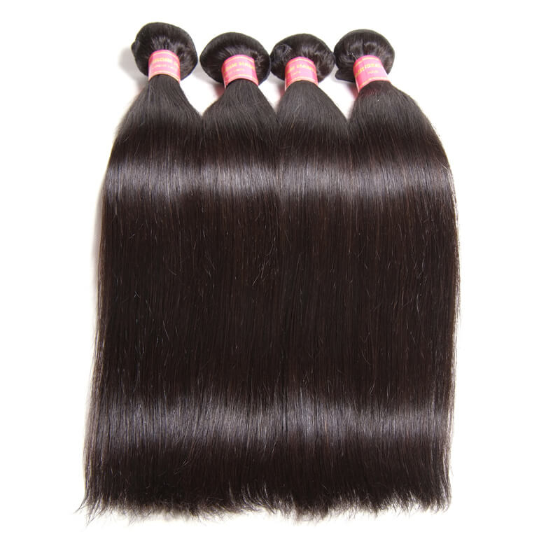 Nadula Cheap Indian Hair Weave Bundles 4 Pcs Thick Straight Indian