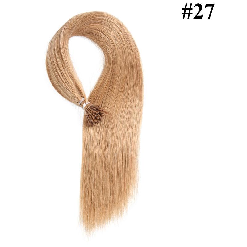 Nadula Peruvian Straight Remy Human Hair I Tip Keratin Fusion Hair