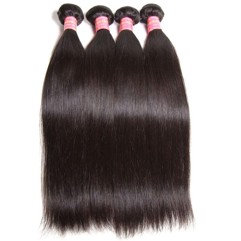 virgin brazilian straight hair 4 bundles