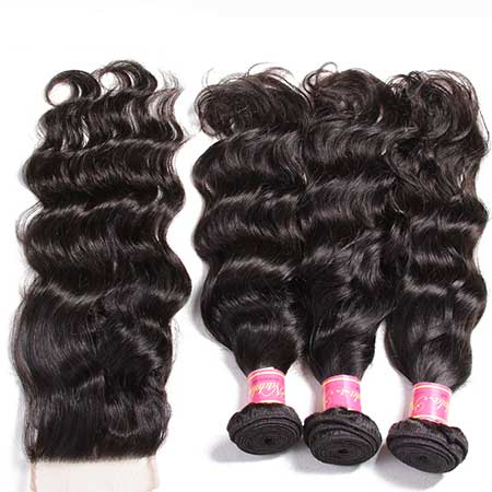 hair weave with closure