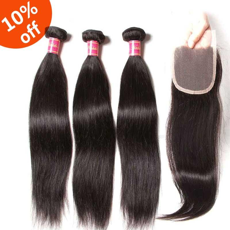 3 bundles hair with closure