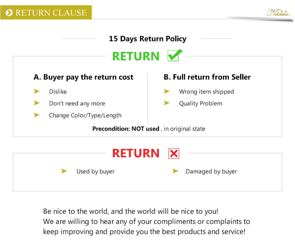 Nadula Return and Refund Policy