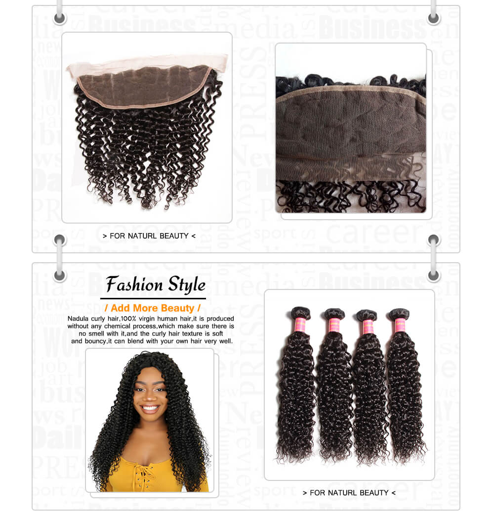 brazilian curly hair with frontal