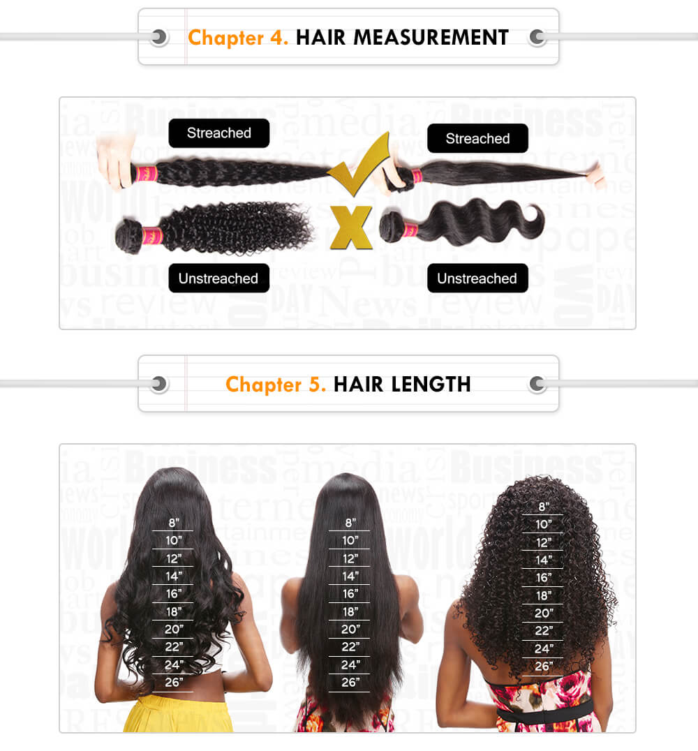 nadula hair measure and length